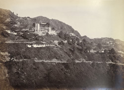 Distant view of the church, Mussoorie